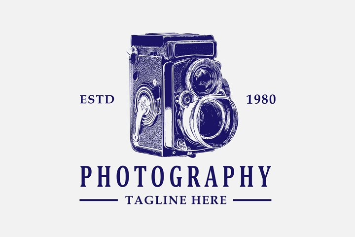 Awesome vintage logo for photography