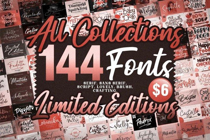 Best Seller - Mega Bundle 144 Fonts