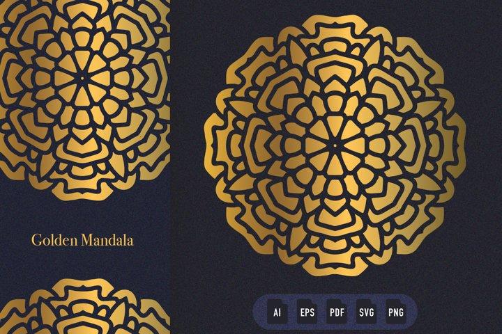 Golden Mandala Art 07