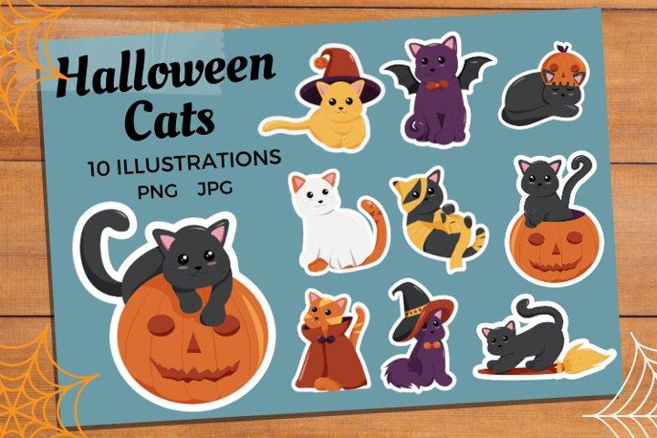 Halloween Cats | Cat Sticker Bundle