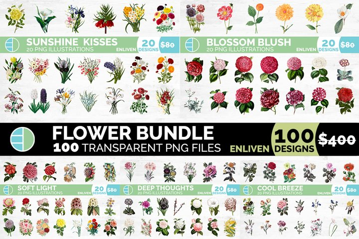 Flower Bundle Vintage Clipart
