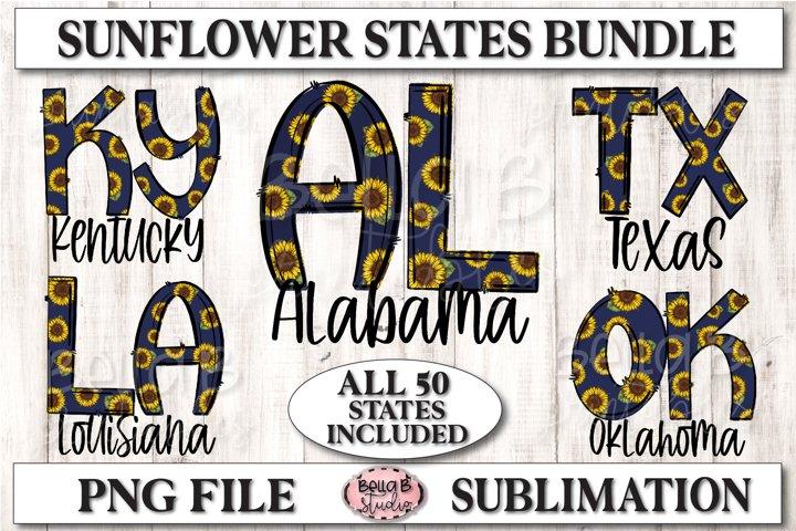 Sunflower USA States Sublimation Bundle