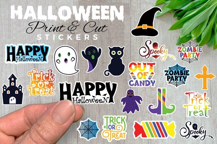 Halloween Stickers, Clip Art, Print And Cut, 300 DPI PNG