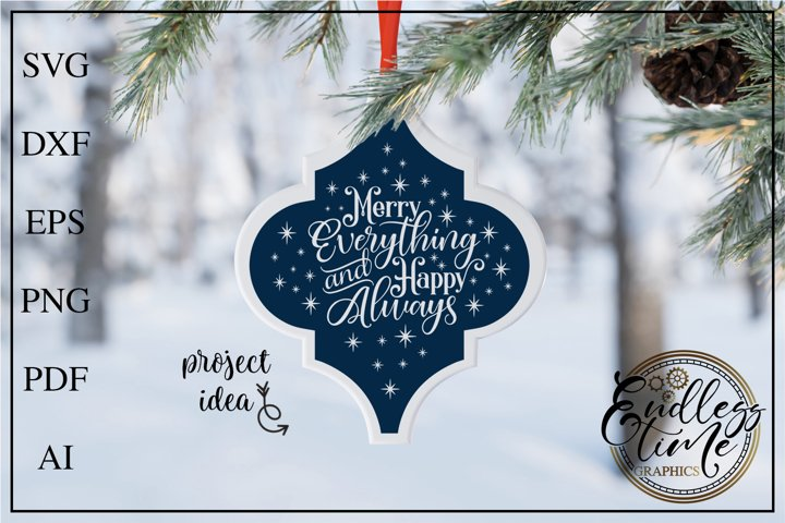 Arabesque Tile SVG - Merry Everything and Happy Always