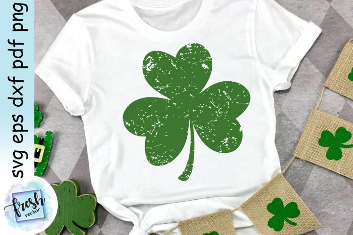 Shamrock SVG St. Patricks Day SVG Distressed Shamrock