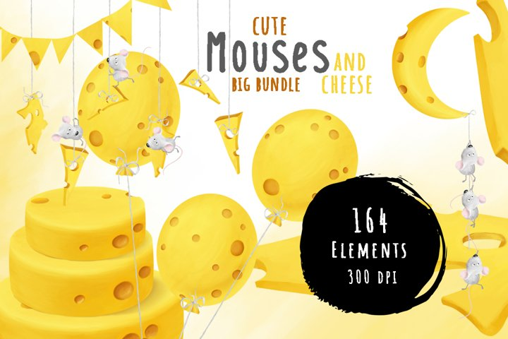 Mouses and cheese. Big bundle