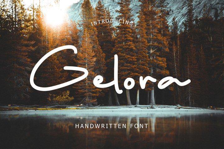 Gelora Handwritten Font
