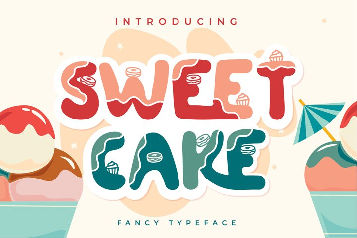 Sweet Cake | Fancy Typeface