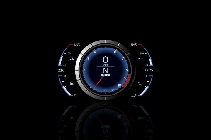 Sport car vector speedometer.