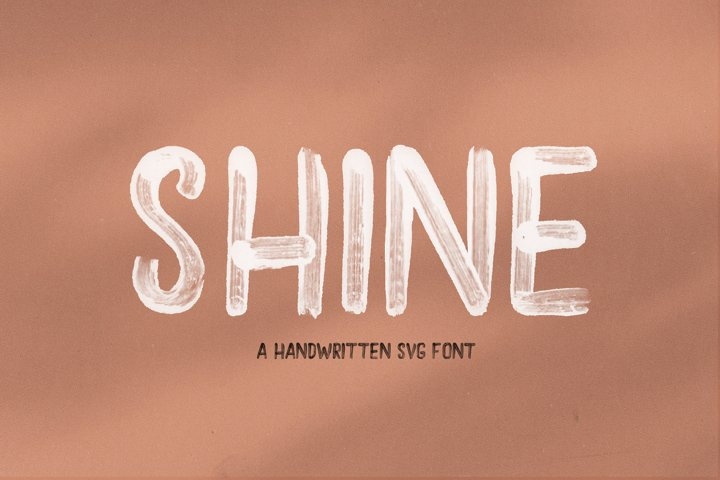 Shine - A Handwritten Brush Font