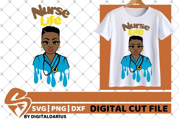 Nurse Life svg, Doctor svg, Black Woman svg, Stethoscope svg