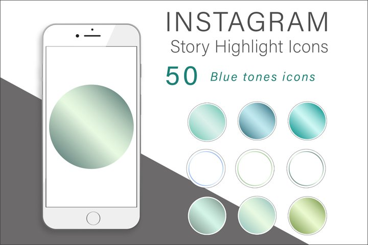 Blue Tones Instagram Highlights Icons