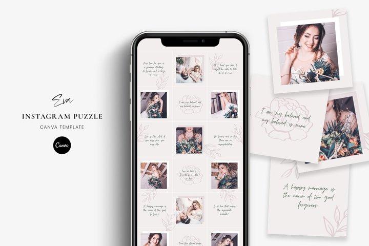 Eva - Instagram puzzle Canva template