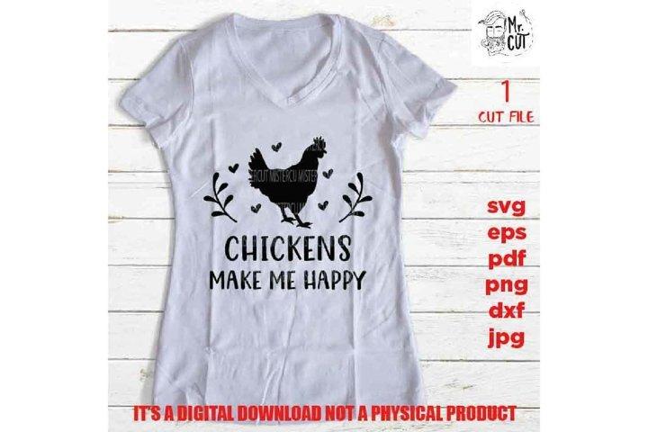 Chicken shirt sign SVG, chickens make me happy SVG, Chicken