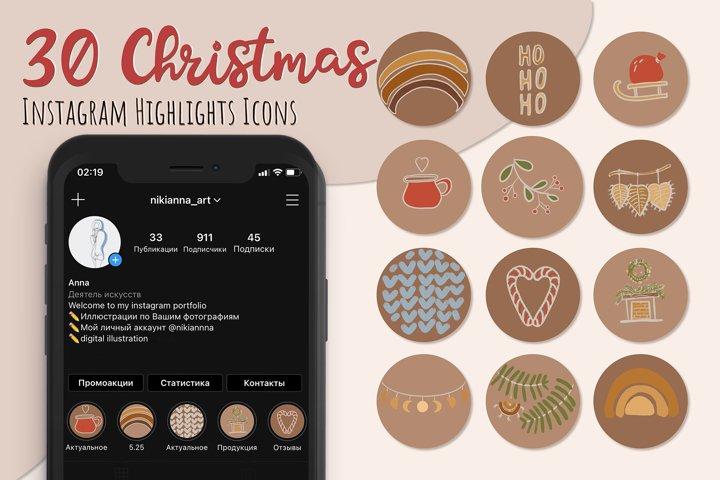 Christmas Instagram HighLights Icons, Boho Highlights Icons,