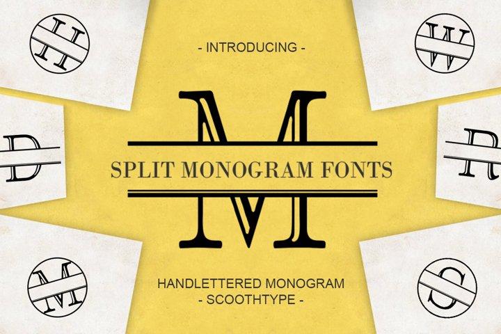Split Letter Monogram Font