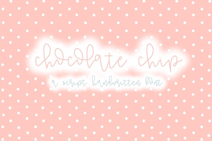 Chocolate Chip | A Fun Script Font | Hand Lettered
