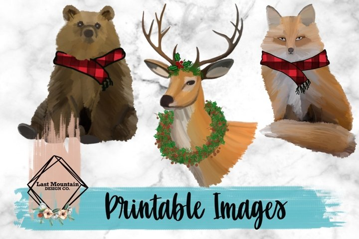 Christmas Woodland Critters Bundle
