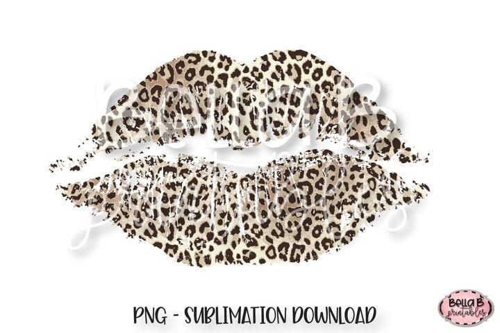 Leopard Print Lips Sublimation, Valentines Sublimation,