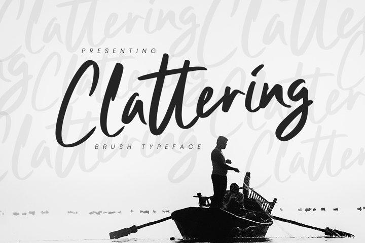 Clattering Brush Typeface