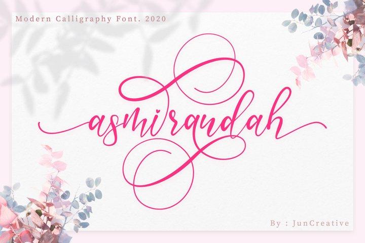 Asmirandah Modern Script