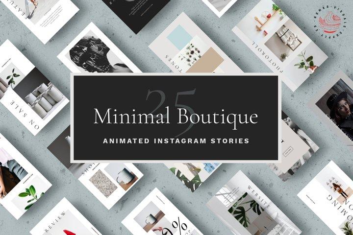 Animated Instagram Stories Templates - Minimal Boutique