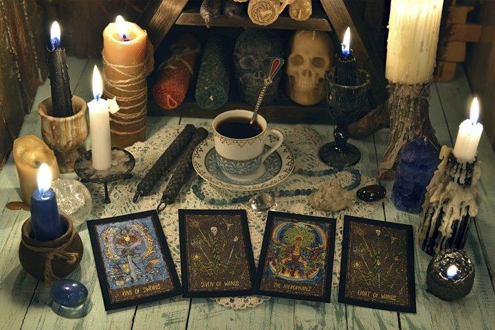 Ritual with Tarot cards