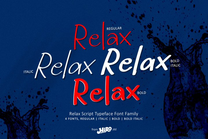 Relax - Display Font