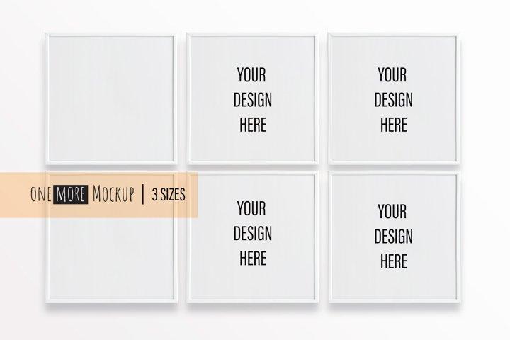 6 White Frames Mockup |1x1 Frames Mock Up |Square Mock Up