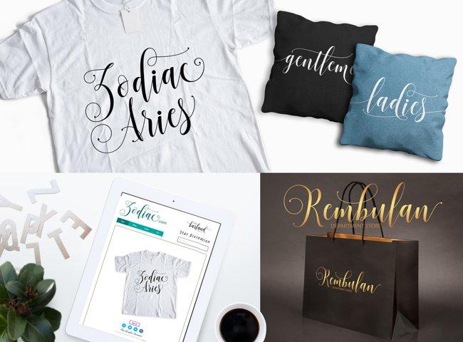 Sadhira Script Calligraphy Typeface - Free Font of The Week Design3