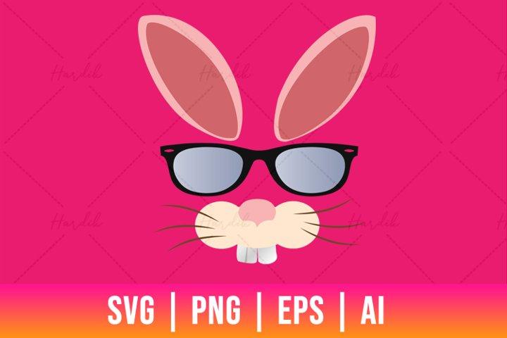 Easter Rabbit SVG, PNG, EPS | Cut Files | T-shirt Design
