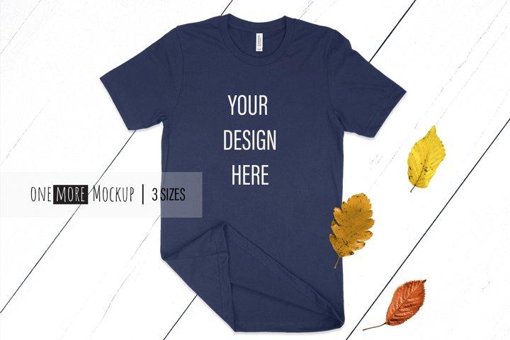 Fall T-Shirt Mockup I Bella Canvas 3001 Navy Mockup