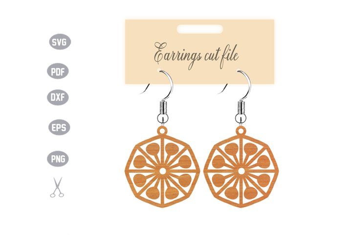 Earrings Template SVG