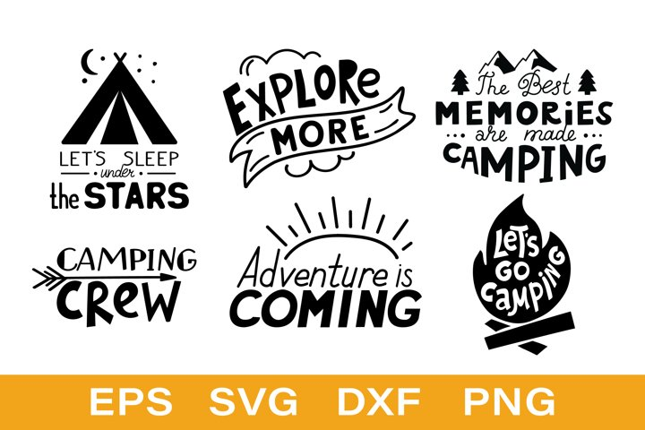 Camping quote gift Bundle SVG PNG EPS JPG
