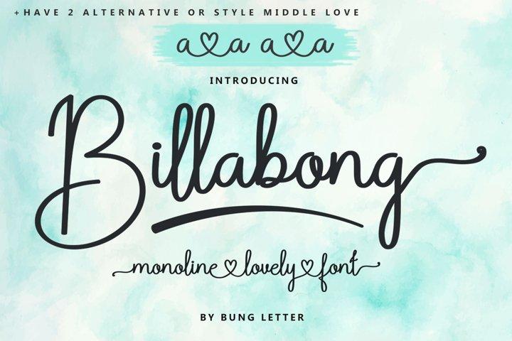 Billabong - Monoline Script
