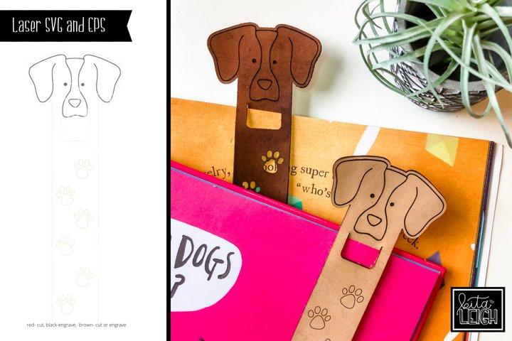 Laser Cut Dog Bookmark SVG