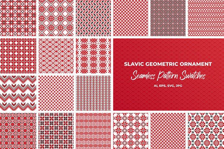 Slavic geometric seamless patterns