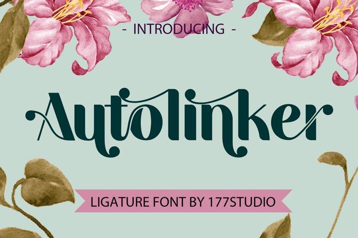 Autolinker Fancy Ligature Font