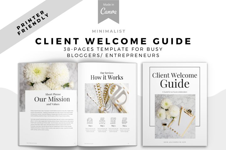 Minimalist Editable New Client Welcome Packet
