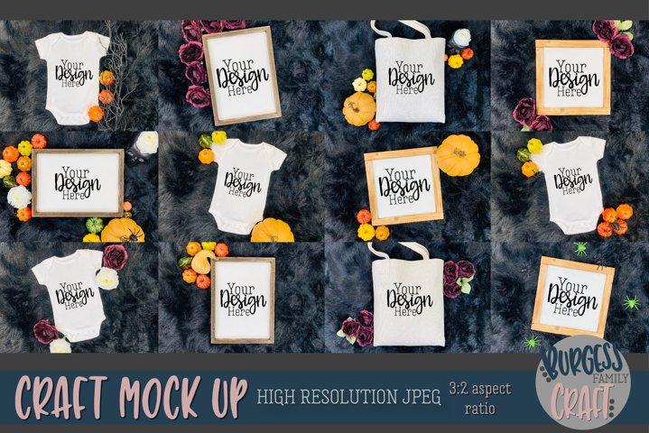 Fall / Halloween Bundle Craft mock up |High Res JPEG