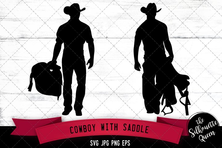 Cowboy with Saddle Svg Cut File