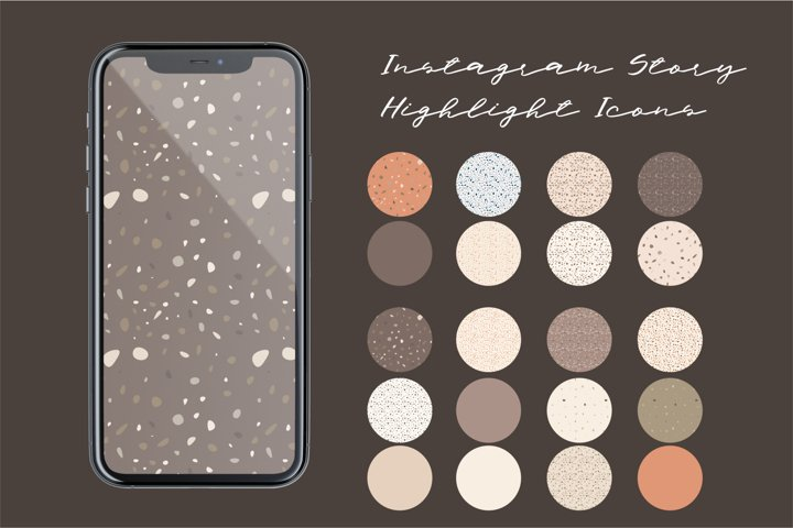 Instagram Story Highlight Icons - Terrazzo-stone Digital