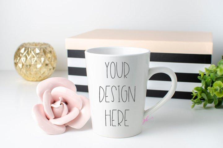 White coffee mug mock up