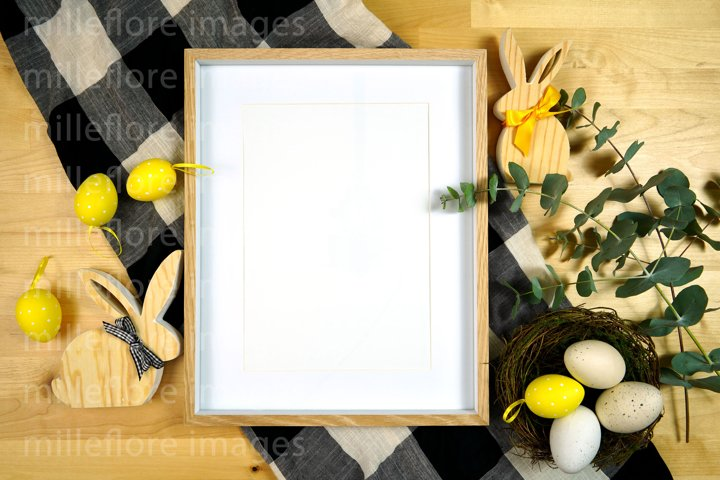 Easter Farmhouse Art Print Frame Flatlay Mockup JPEG Photo