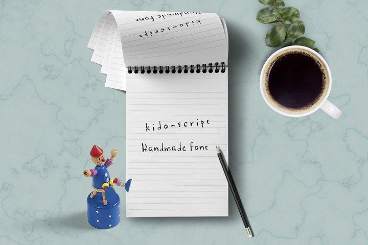 Kido-script handmade font