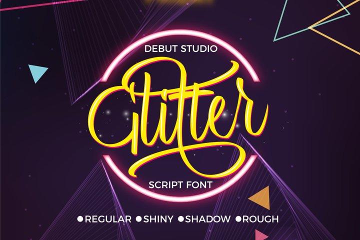 Glitter Script Font (30% Off)