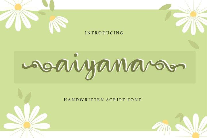 Aiyana | Handwritten Script Font