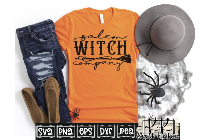Salem Witch Company Svg, Halloween Svg Designs, Witch Svg