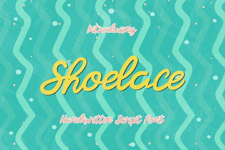 Shoelace - A Bouncy Handwritten Script Font