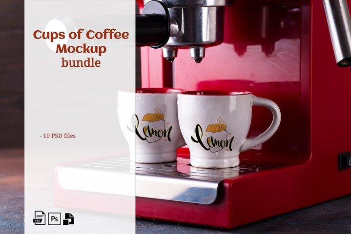 Cups of Coffee Mockup